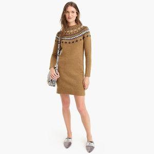 Jewel Embellished Fair Isle Sweater Dress (NWT)